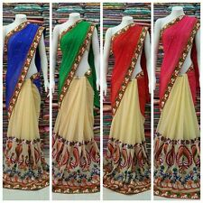 BRAND NEW INDIAN ETHNIC BOLLYWOOD FANCY SAREE PARTY WEAR DESIGNER BLOUSE SARI