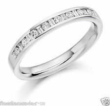0.60ct Round & Baguette Cut Diamond Half Eternity Wedding Ring in 950 Platinum