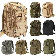 Travel Hiking Camping Army Military Backpack Sport Outdoor Bag Free 3in1 Whistle