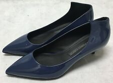 Gianmarco Lorenzi Patent Blue Leather Shoes. A6GI511H. RRP £290. Various Sizes.