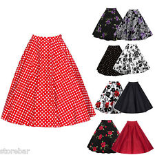 Vintage Retro 40's 50's Full Circle Rockabilly Jive Ladies A Line Swing Skirt