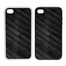 Dark Wood Effect -Rubber and Plastic Phone Cover Case- Abstract Design