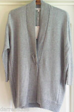 NEW~MONSOON~TORONTO GREY KNITTED CARDIGAN LONG SLEEVE ANGORA BLEND