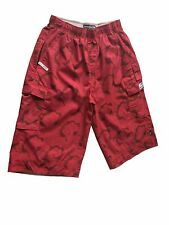 Abercrombie & Fitch Men's Wide fit 3/4 Shorts with elastic waist - Red/Pink