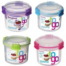 Sistema Breakfast To Go Storage Container 530ml For Home,School and Office,NEW