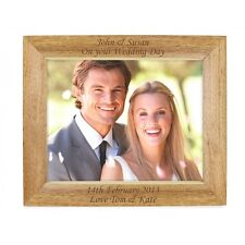 Personalised Engraved Oak Frame's -  Pets,Wedding/Birthday/Friends Gifts  3