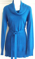 NEW~JOJO MAMAN BEBE~MATERNITY LONG-LINE JUMPER TOP COBALT BLUE KNITTED
