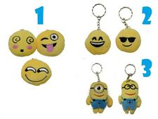 Emoji Emoticon Minion Keychain Ring Soft Toy Gift Anniversary Birthday SALE