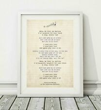 187 The Righteous Brothers - Unchained Melody - Song Lyric Poster Print - A4 A3