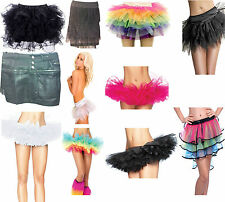 TuTu Skirts of various colours, styles and mini skirts, LED on some