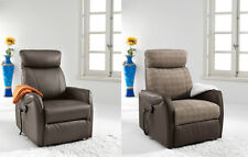 Sillón relax reclinable, sillon levantapersonas de polipiel, 2 colores,  Mister