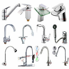 Kitchen Sink Tap Mixer Basin Bath Tap Chrome Brass Grass Faucet Toilet Waterfall