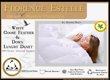 Florence Estelle Duvet 40% DOWN & 60% WHITE GOOSE FEATHER  DUVET ALL SIZES