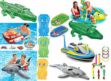 Junior Inflatable Ride On Swimming Pool Beach Toy Float Rider Kids Childern