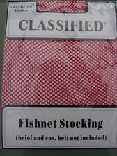 Classified Fishnet stockings Red H149