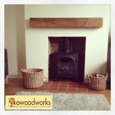 Solid English Oak Beams Floating Shelf Mantle Piece Fire Place Surround