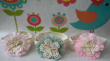 CUTE BABY GIRL CROCHETED HEADBAND WITH BIG FLOWER