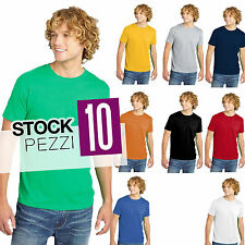 Set 10 T-Shirt Uomo Magliette a Maniche Corte Cotone Fruit of The Loom STOCK