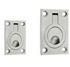 Stainless Steel Flush Fit Ring Pull Trap Door Furniture Cabinet Cupboard Handle