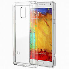 BUMPER COVER CUSTODIA PER SAMSUNG GALAXY NOTE 4  TRASPARENTE  e bordi colorati