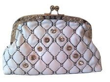 Women's New Beautiful Diamante Sparkly High quality PU Clutch Bag with Chain
