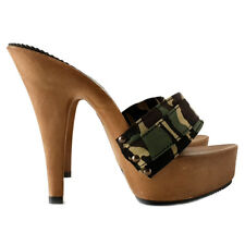 Zoccoli Camouflage-CLOGS-Scarpe Made in Italy n°dal 35 a 42 - Tacco 13