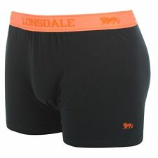 MENS NAVY ORANGE 2 PACK LONSDALE BOXER SHORTS UNDERWEAR  S M L XL XXL XXXL XXXXL