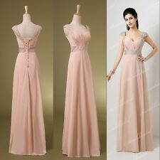 Bridesmaids Long Formal Dresses Maxi Prom Party Gowns Lilac Grey Sky Blue Stock