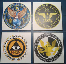UNITED STATES GOVERNMENT AGENCY MAGNETIC SIGNS: F.B.I./ C.I.A. /N.C.I.S. + MORE