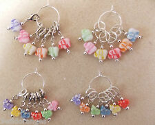 Knitting or Crochet Stitch Markers Set of 6 Elephants or 6 Angels