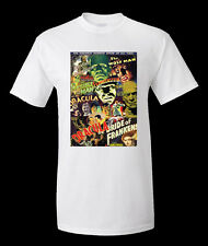 UNIVERSAL FILM HORROR 2 T SHIRT FRUIT OF THE LOOM POLYESTER