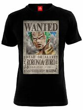 ONE PIECE Wanted Roronoa Zoro Male T-Shirt schwarz
