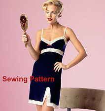 Butterick B6031 PATTERN by Gertie - Misses Camisole,Slip, Panties - Size 6 - 22