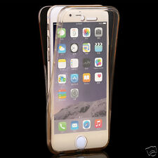 *TRANSPARENT 360° PROTECTION SILICON*Front+Back Cover Case For*Apple iPhone 6/6S