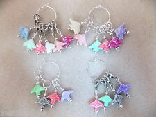 Knitting or Crochet Stitch Markers Fish Set of 6 or 4