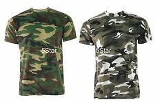 MENS ARMY CAMOUFLAGE MILITARY PRINT CASUAL CAMO ARMY T-SHIRT BIG SIZES S-5XL