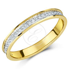 9ct Oro Giallo Anello Diamante Half Eternity 0.15ct Solido e Marchiato