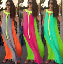 Womens Summer Casual Dress Sexy Summer Beach Evening Party Long Maxi Boho Dress