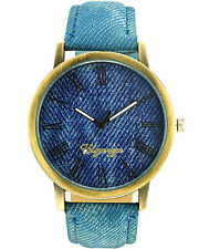 Eleganzza Denim Roman Dial Wrist Watch for Men Women Unisex Boys & girls
