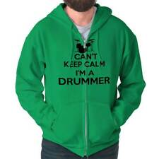 Cant Keep Calm Drummer Funny Shirt Percussion Sarcastic Gift Zip Hoodie