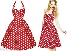 Hell Bunny Red Mariam Polka Dot Dress 50s Pin Up Rockabilly Retro Size Small