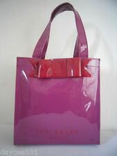 TED BAKER SHOPPER TOTE BAG MULBERRY PVC WITH RED BOW GORGEOUS NEW NO TAGS
