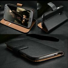 Luxury Genuine Leather Flip Case Wallet Cover For all Samsung Galaxy Models