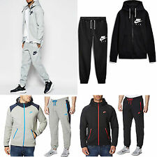 New Mens Nike Full Tracksuit Trousers Pants Black Foundation Sweatshirt Bottoms