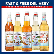 Monin Coffee Syrups SUGAR FREE 1 Litre Bottles - AS USED BY COSTA COFFEE