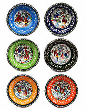 8cm Hand Painted Floral Pattern Ceramic Bowl, Tradional Turkish Patterns