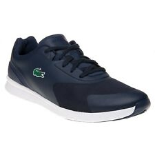 New Mens Lacoste Blue LTR.01 Nylon Trainers Running Style Lace Up