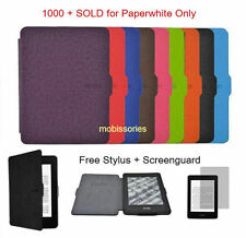 "Ultra Slim Flip Leather Case Cover for Amazon Kindle Paperwhite 6"" HD 300 ppi"