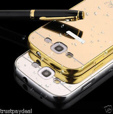 Luxury Metal Frame + PC Mirror Back Case Cover For Samsung Galaxy S3 NEO / S3