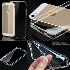 Ultra Thin Transparent Clear Soft Silcone Gel Plastic Fits IPhone Case Cover a15